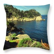 Beautiful Monterey Bay From Point Lobos Throw Pillow
