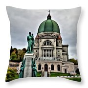 Beautiful Montreal Church Throw Pillow