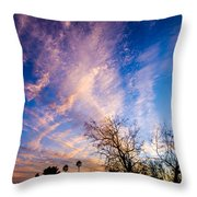 Beautiful Morning Sunrise Clouds Across The Sky Throw Pillow