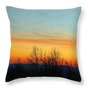 Beautiful Mountain Sunset Throw Pillow