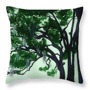Beautiful Oak Trees Throw Pillow