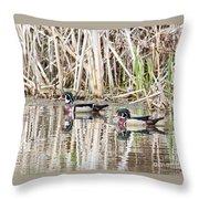 Beautiful Pair Throw Pillow