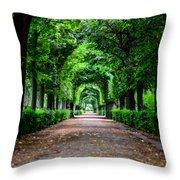 Beautiful Park At Schonbrunn Palace In Vienna Austria Throw Pillow