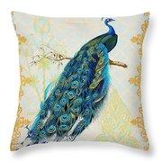 Beautiful Peacock-a Throw Pillow