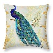 Beautiful Peacock-b Throw Pillow