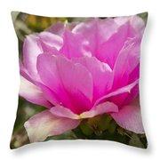 Beautiful Pink Cactus Flower Throw Pillow