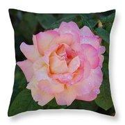 Beautiful Pink Rose Throw Pillow