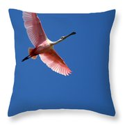 Beautiful Pink Roseate Spoonbill Throw Pillow