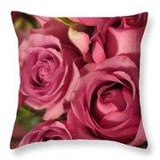 Beautiful Pink Roses 6 Throw Pillow