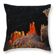 Beautiful Pinnacles At Bryce Canyon Throw Pillow