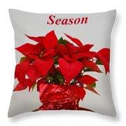 Beautiful Poinsettia Plant - No 2 Throw Pillow