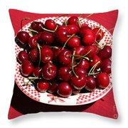 Beautiful Prosser Cherries Throw Pillow