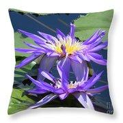 Beautiful Purple Lilies Throw Pillow