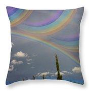 Beautiful Rainbows Throw Pillow