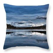 Beautiful Rainy Lake Throw Pillow
