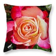 Beautiful Red Rose Throw Pillow