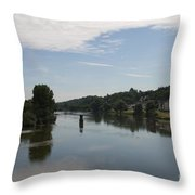 Beautiful River Loire  Throw Pillow