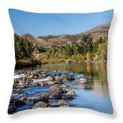 Beautiful River Throw Pillow
