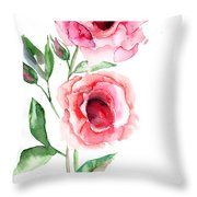 Beautiful Roses Flowers Throw Pillow