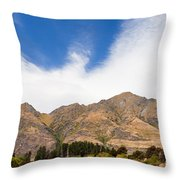 Beautiful Roys Peak Near Wanaka In Southern Alps Of New Zealand Throw Pillow
