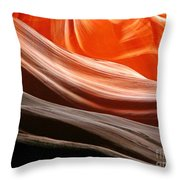 Beautiful Sandstone Layers Throw Pillow