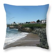 Beautiful Santa Cruz Coast Throw Pillow