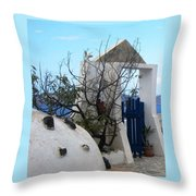 Beautiful Santorini Throw Pillow