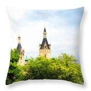 Beautiful Schwerin Castle Throw Pillow