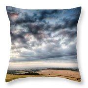 Beautiful Skies Over Farmland Throw Pillow