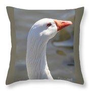 Beautiful White Goose Throw Pillow