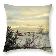Beautiful Sparkling Snow Throw Pillow