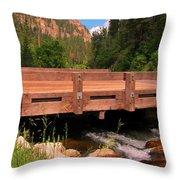Beautiful Spearfish Canyon Throw Pillow