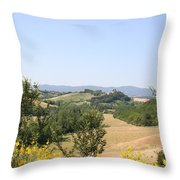 Beautiful Spot - Crete Senesi Throw Pillow