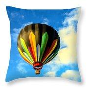 Beautiful Stripped Hot Air Balloon Throw Pillow