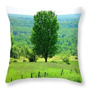 Beautiful Pennsylvania Summer Scene - Colorful Landscape - Painting Like Throw Pillow