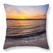 Beautiful Sunrise On A Red Sea Beach Throw Pillow