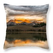Beautiful Sunrise On Little Redfish Lake Throw Pillow