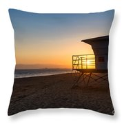 Beautiful Sunset In Point Mugu State Park In Malibu. Throw Pillow