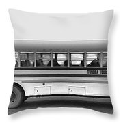 Beautiful Tour Bus At Barrow Throw Pillow
