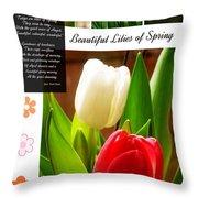 Beautiful Tulips Series 2 Throw Pillow