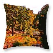 Beautiful Victoria Park Truro Nova Scotia Throw Pillow