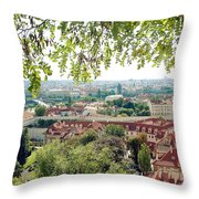 Beautiful View Of Prague Throw Pillow
