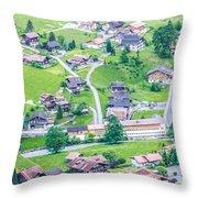 Beautiful Village Lauterbrunnen Throw Pillow