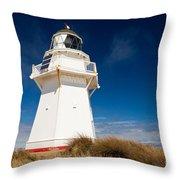 Beautiful Waipapa Point Lighthouse The Catlins Nz Throw Pillow