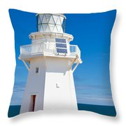 Beautiful Wairapa Point Lighthouse The Catlins Nz Throw Pillow