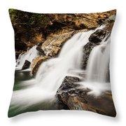 Beautiful Waterfall In Western Ghats Karnataka India Throw Pillow