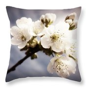 Beautiful White Blossoms Throw Pillow