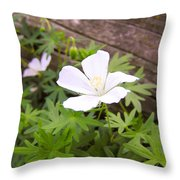 Beautiful Wild Geranium Throw Pillow