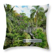 Beautiful Winter Day In Florida  Throw Pillow
