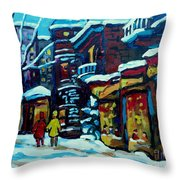 Beautiful Winter Evening Throw Pillow